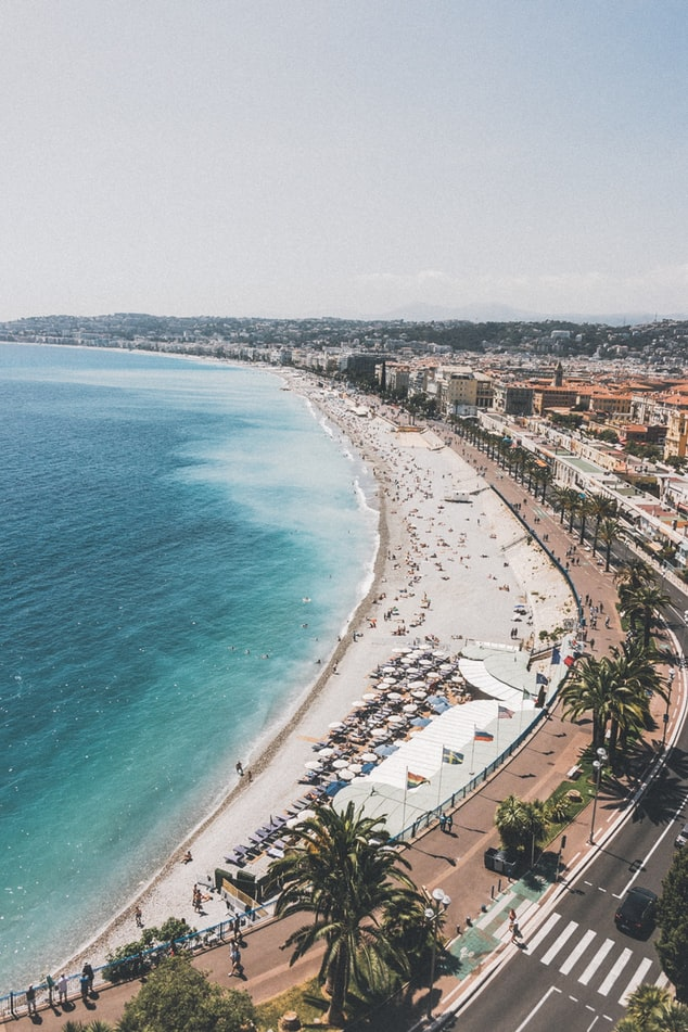 the coast of nice, city of nice in the south of france, european cities to visit
