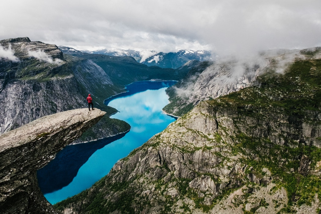 trolltunga and fjords in norway to visit on your next trip in europe, destinations in europe to visit next, view, norway, mountains