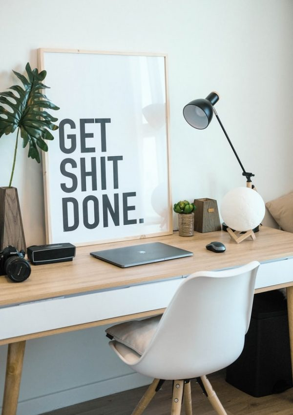 get stuff done, laptop on a desk, how to increase productivity at home