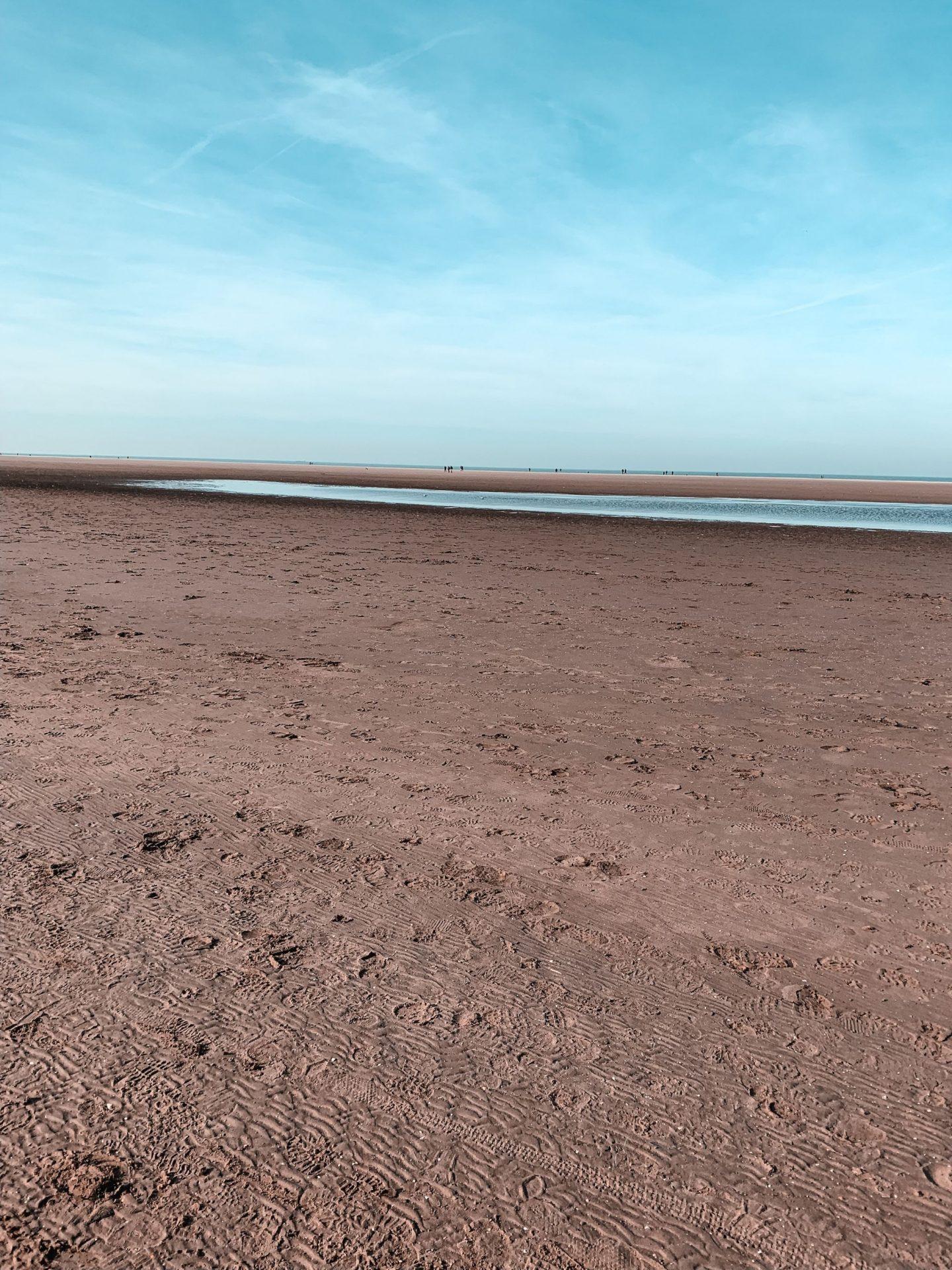 Ocean, beach, sand, blue sky