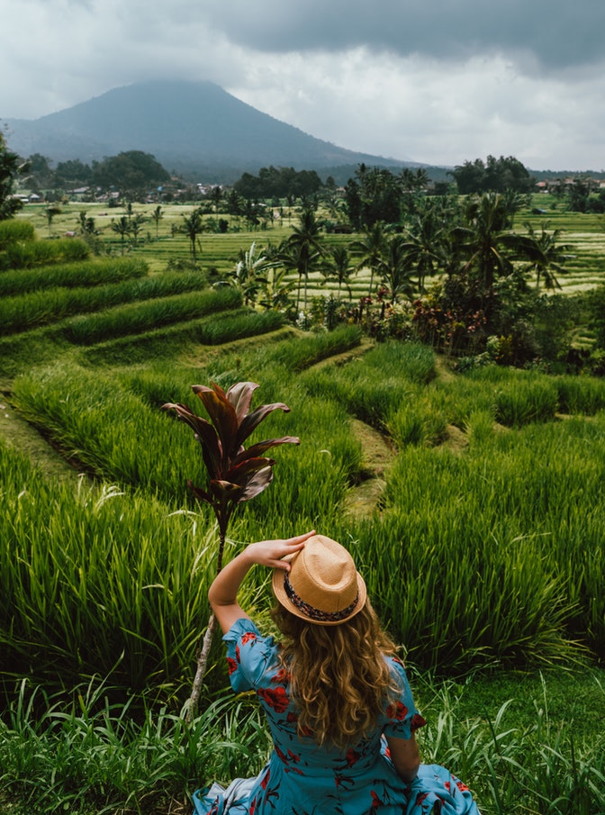 Indonesia, Bali, girl, ricefields, travel,  view, wanderlust, responsible travel, tips, travel guide