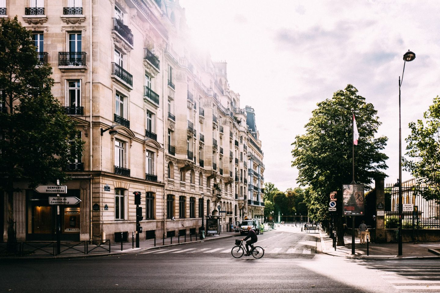 street, cute, bike, buildings, city, paris, guide