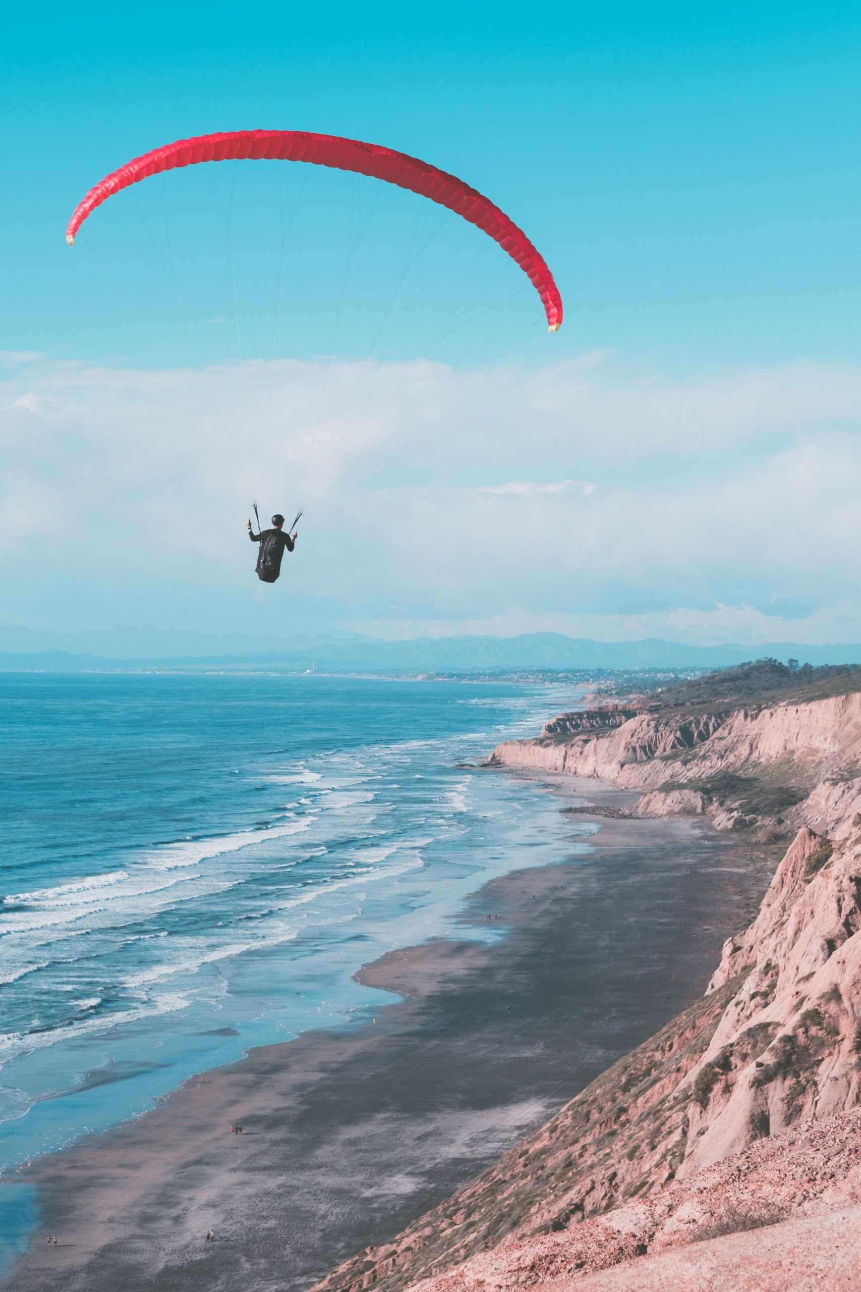 inspire, travel, inspiration, ocean, flying, skydiving, parasailing, traveling, wanderlust