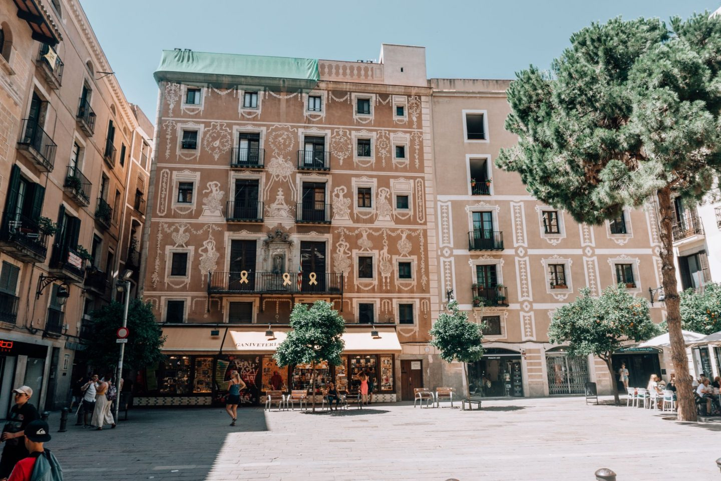 barcelona, streets, houses, square, traveling
