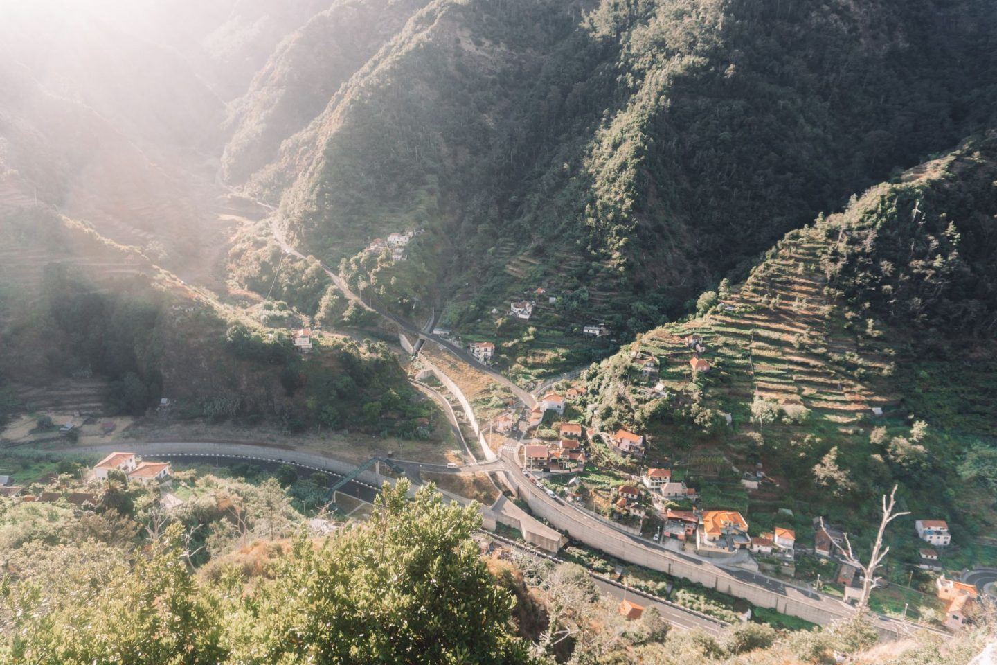 village in madeira, mountains, travel, photography