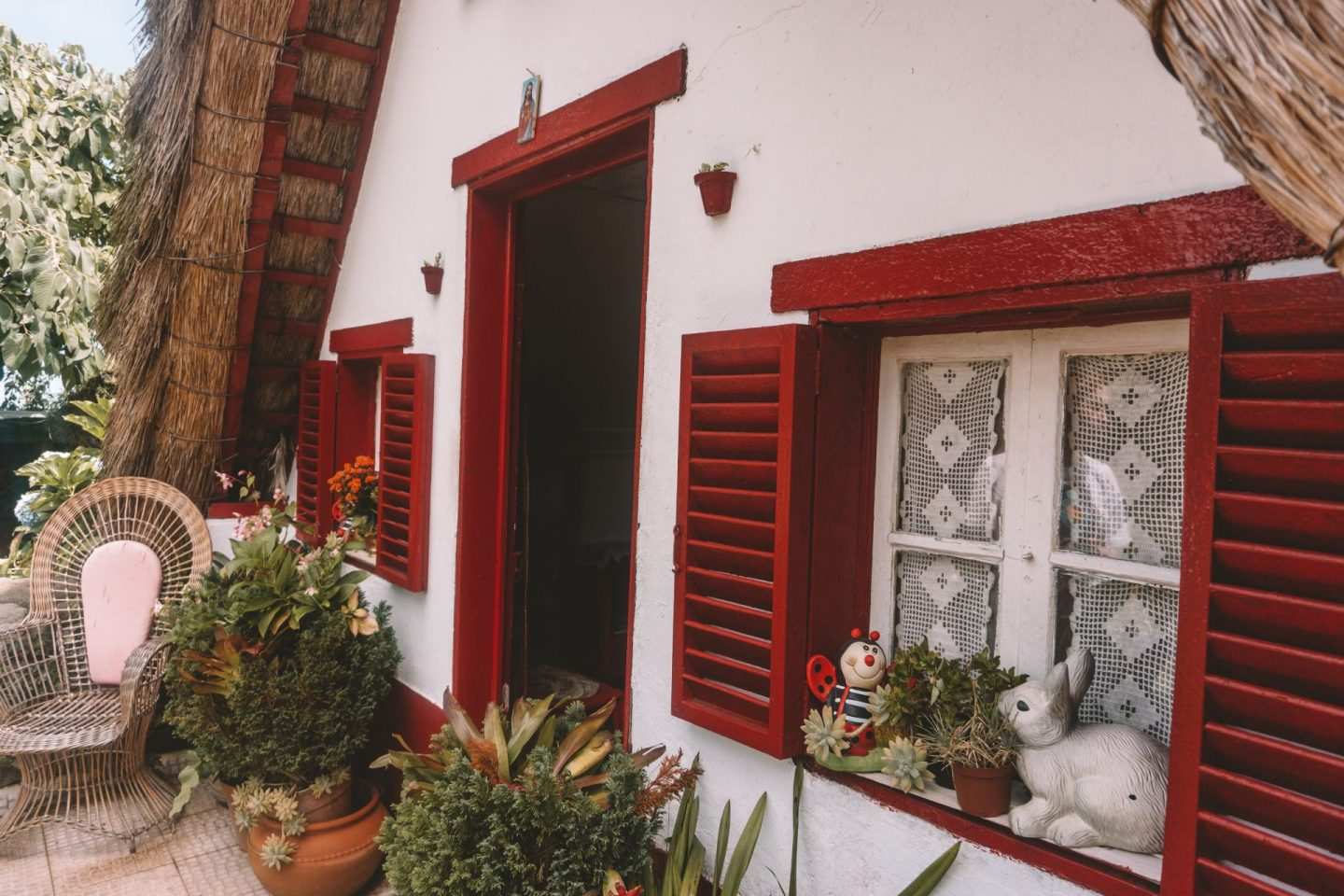 one of the traditional houses in santana, madeira.