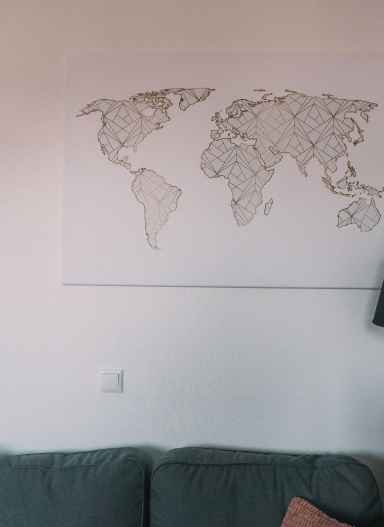 review, world map, travel, canvas