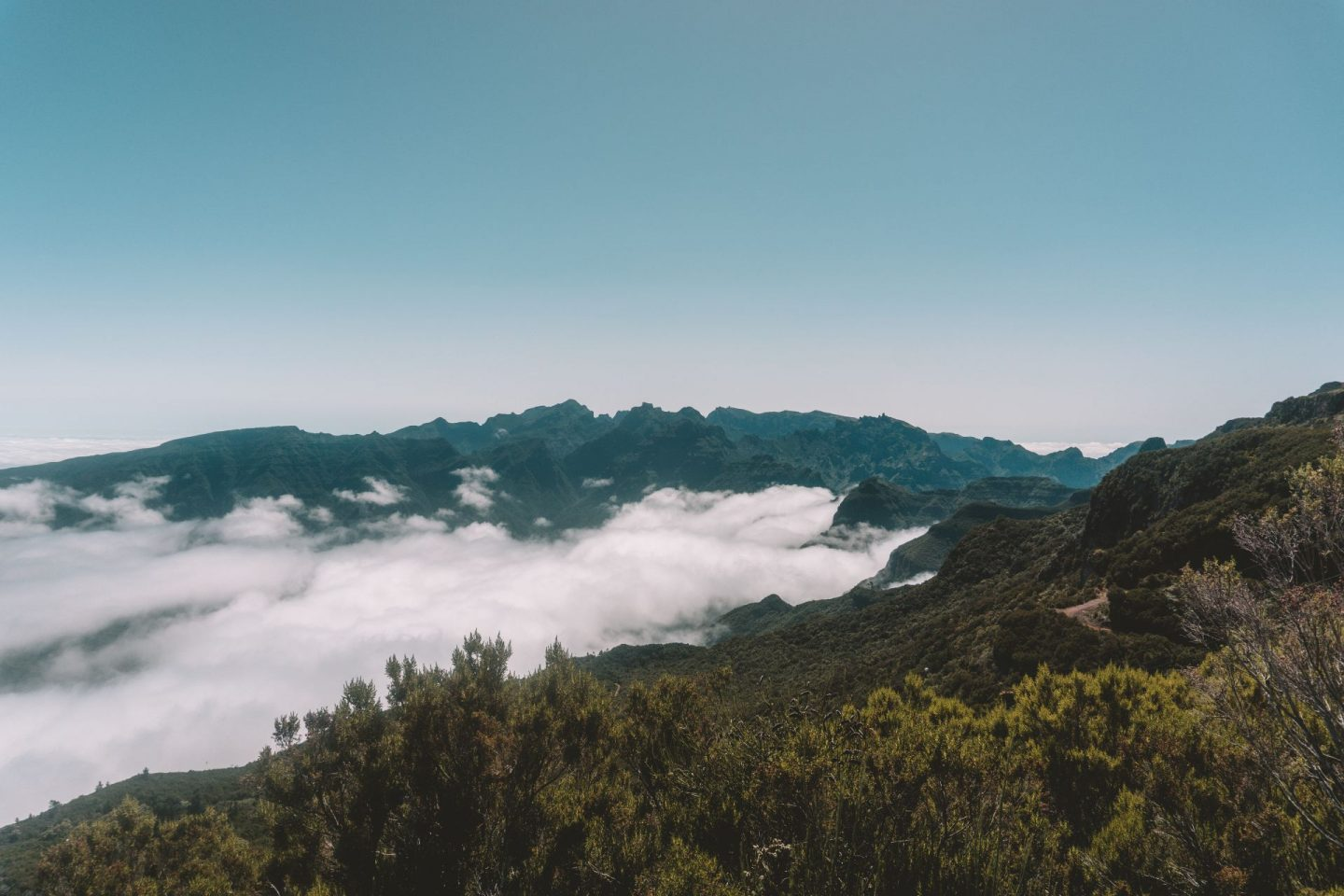 above the clouds on a mountain in madeira, travel, wanderlust