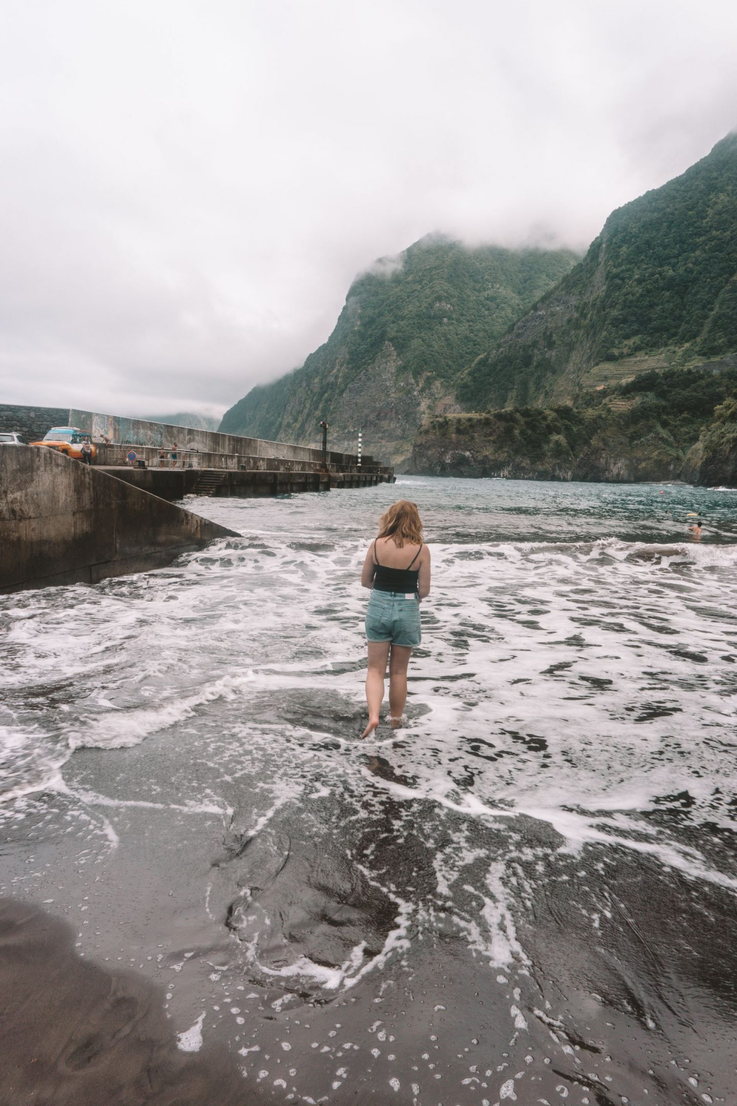 black sand beach in madeira, travel, traveling, beginners guide to madeira