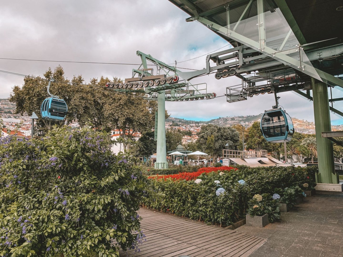 cable car in funchal in madeira, portugal