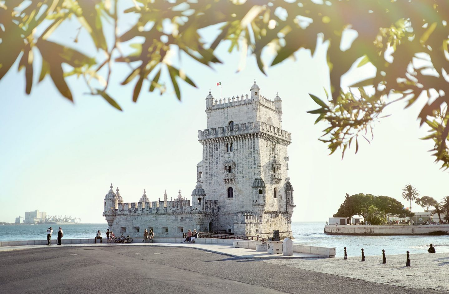 the cities porto, lisbon and sante cruz are amazing to visit on romantic trips, castle in lisbon near the sea
