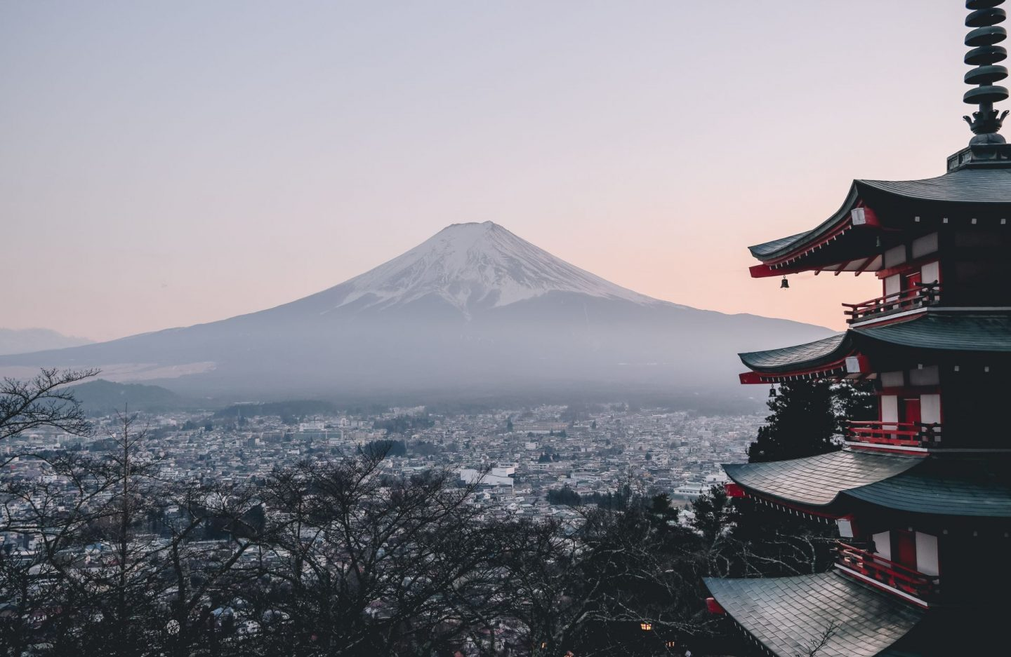 japan, temple, mount fuji, travel, destinations to visit in 2020, view, sunset, country in asia