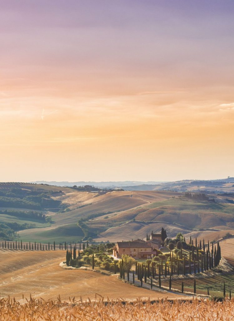 20 destinations to visit in 2020, travel inspiration, nature and mountains in italy, wine yards, sunset, sunrise, travel