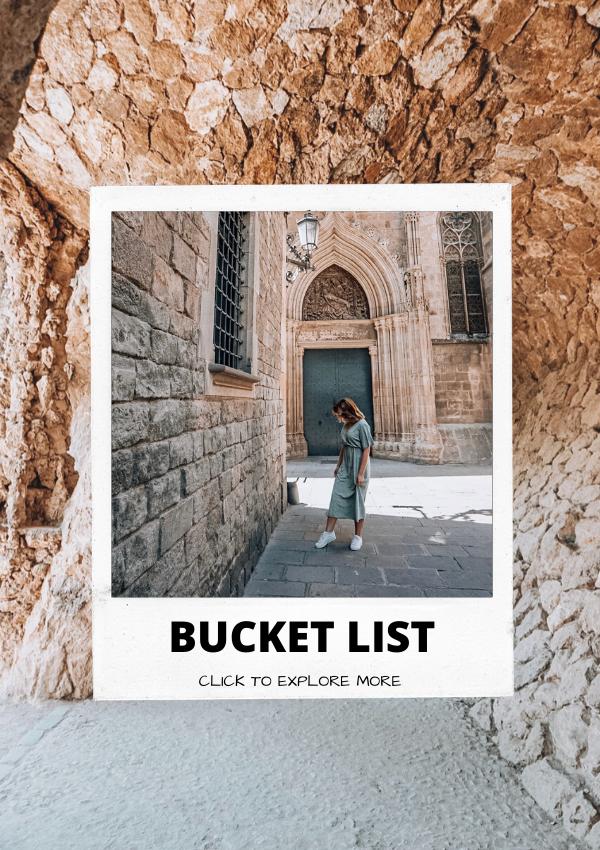 bucket list experiences, spain, barcelona