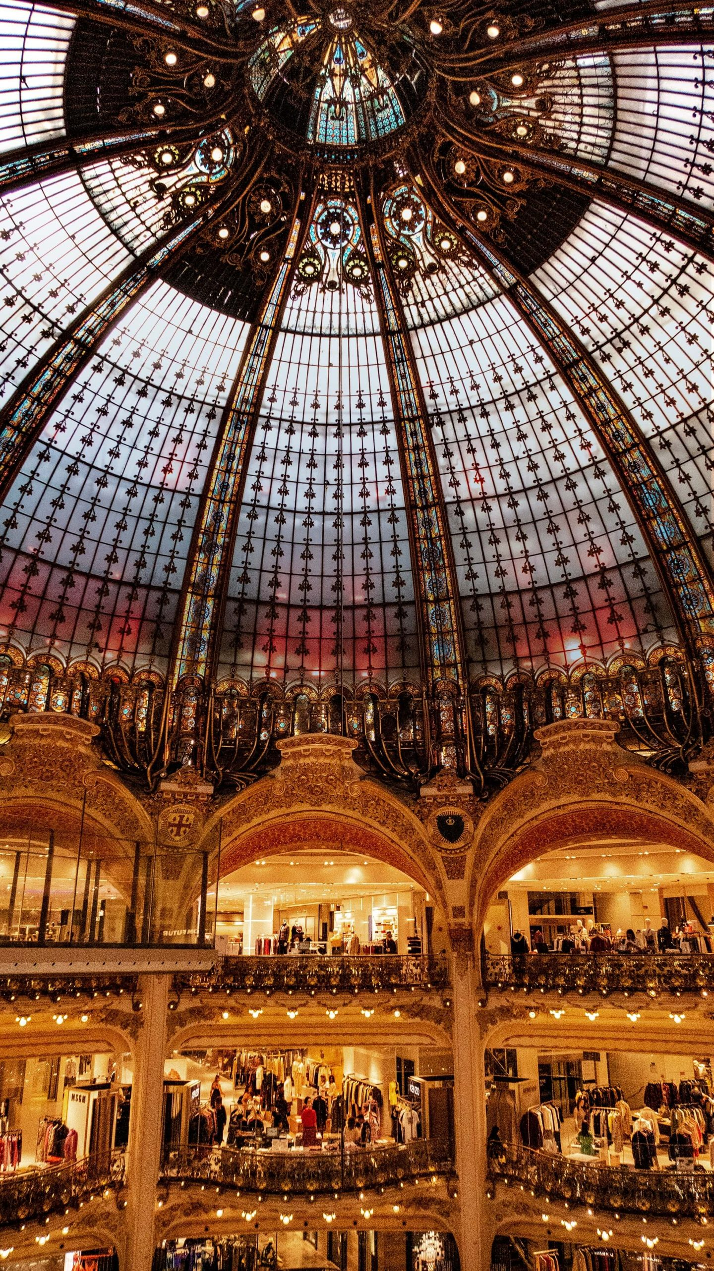 things to do in paris, bucket list experiences, city in france, inside of galeries lafayette