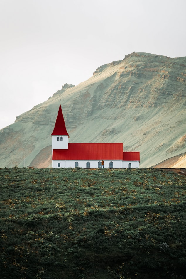 roadtrip through iceland in europe, small church in iceland, travel journeys, once in a lifetime journeys, where to go