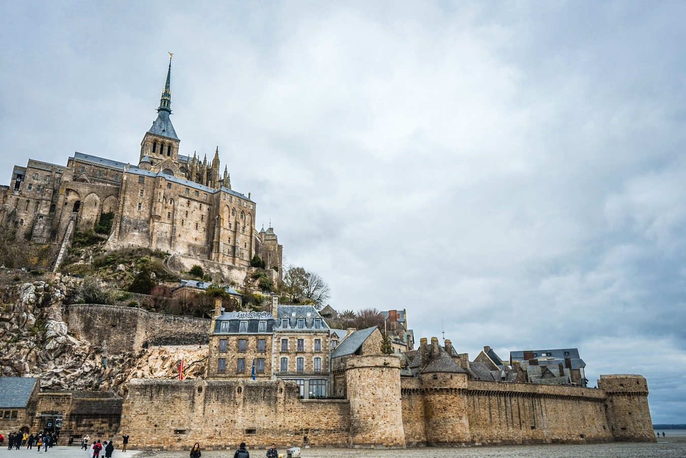 le mont saint michel in france, normandy region in france