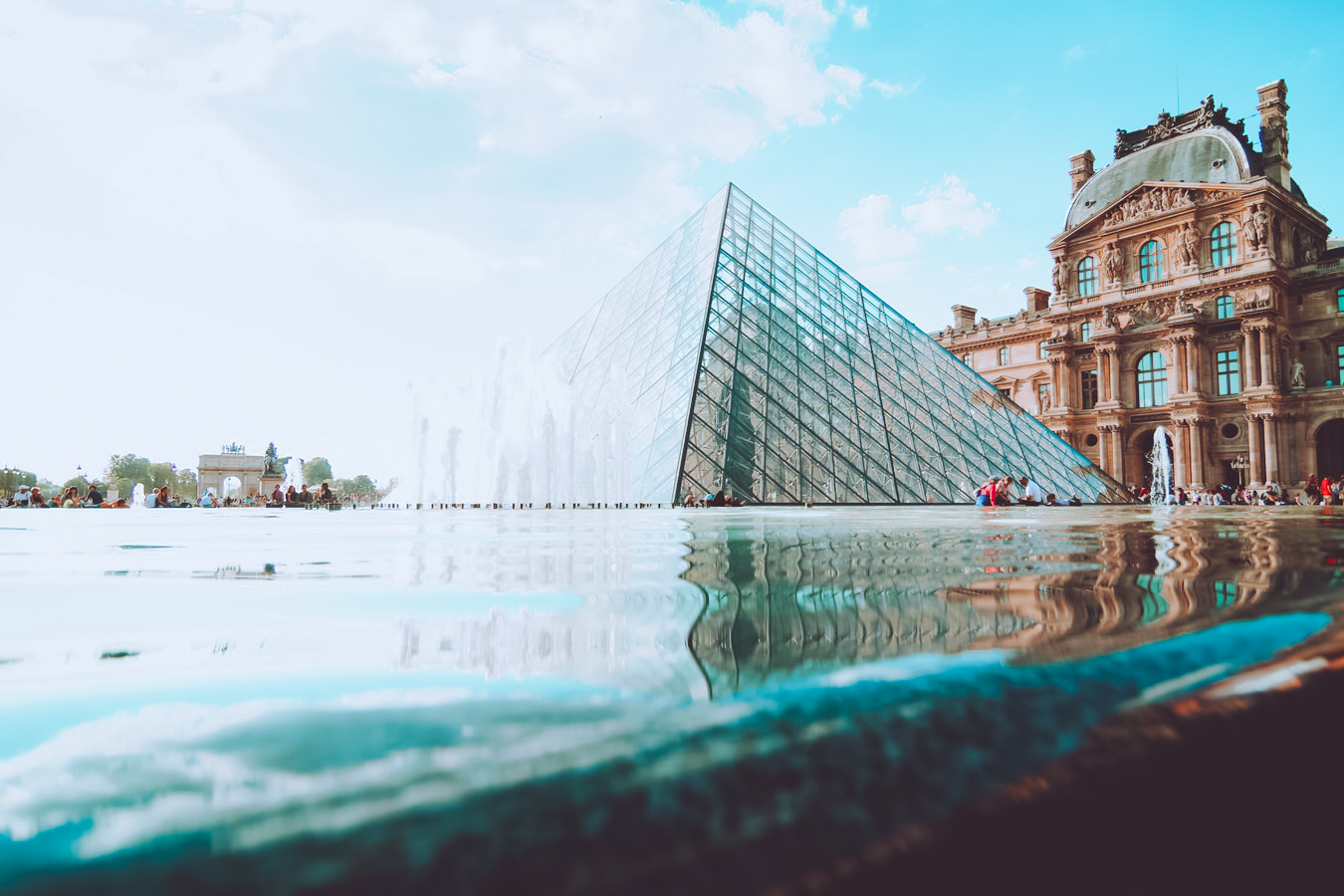 the louvre in paris, le marais neighbourhood, arrondissement in paris, city in france