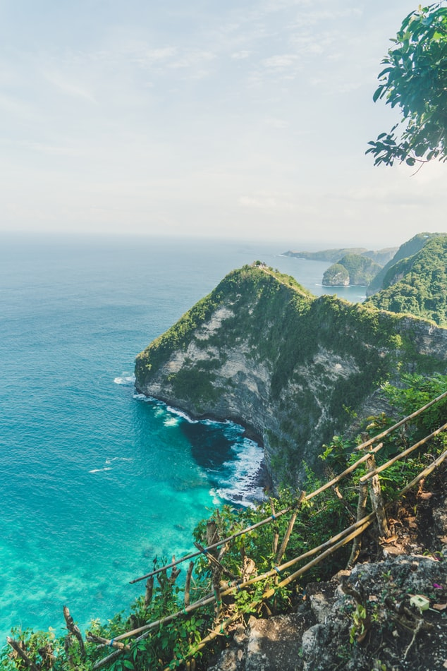 ocean in bali, indonesia, view over the ocean, bali travel photography, travel inspiration