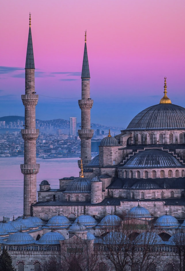 istanbul in turkey during sunset