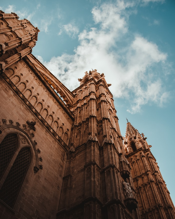 the gothic cathedral in palma de mallorca, spanish island mallorca
