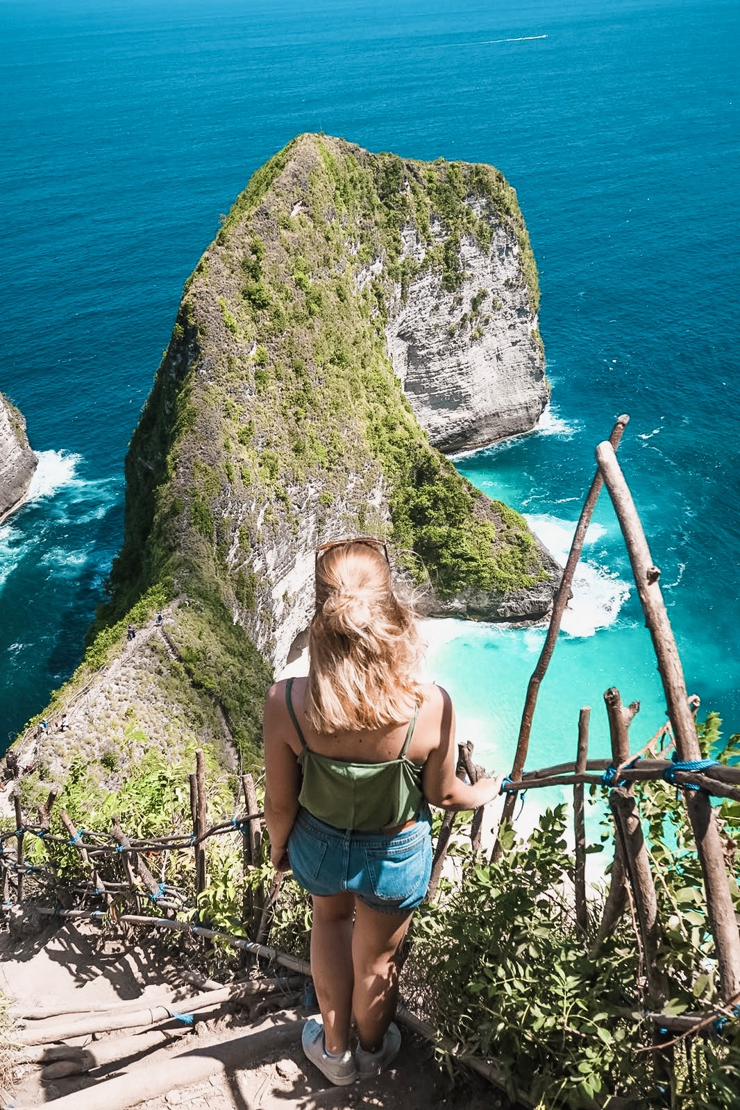 a view over nusa penida from the view point, ocean view