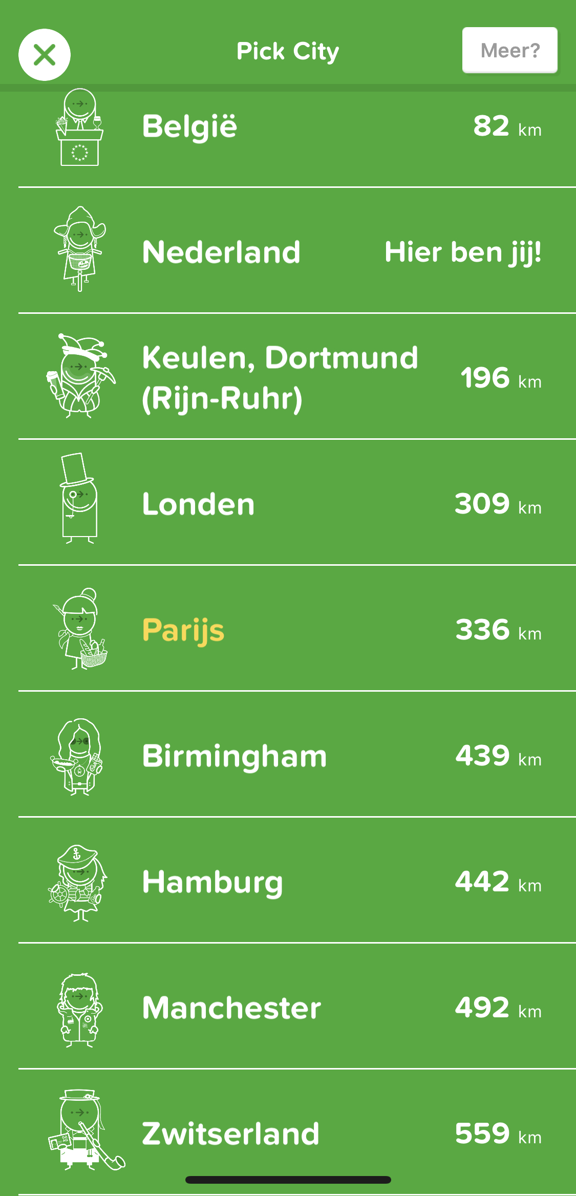 the city mapper app on iphone and android, different cities to choose