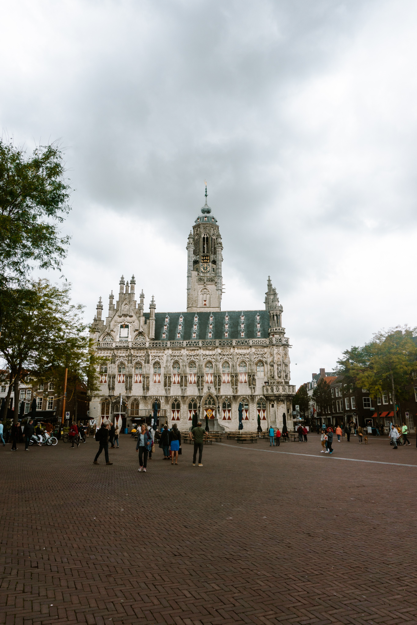 the town house in middelburg, dutch city, historic building