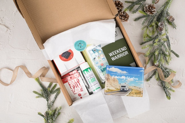 camp life crate, subscription box, box for camping