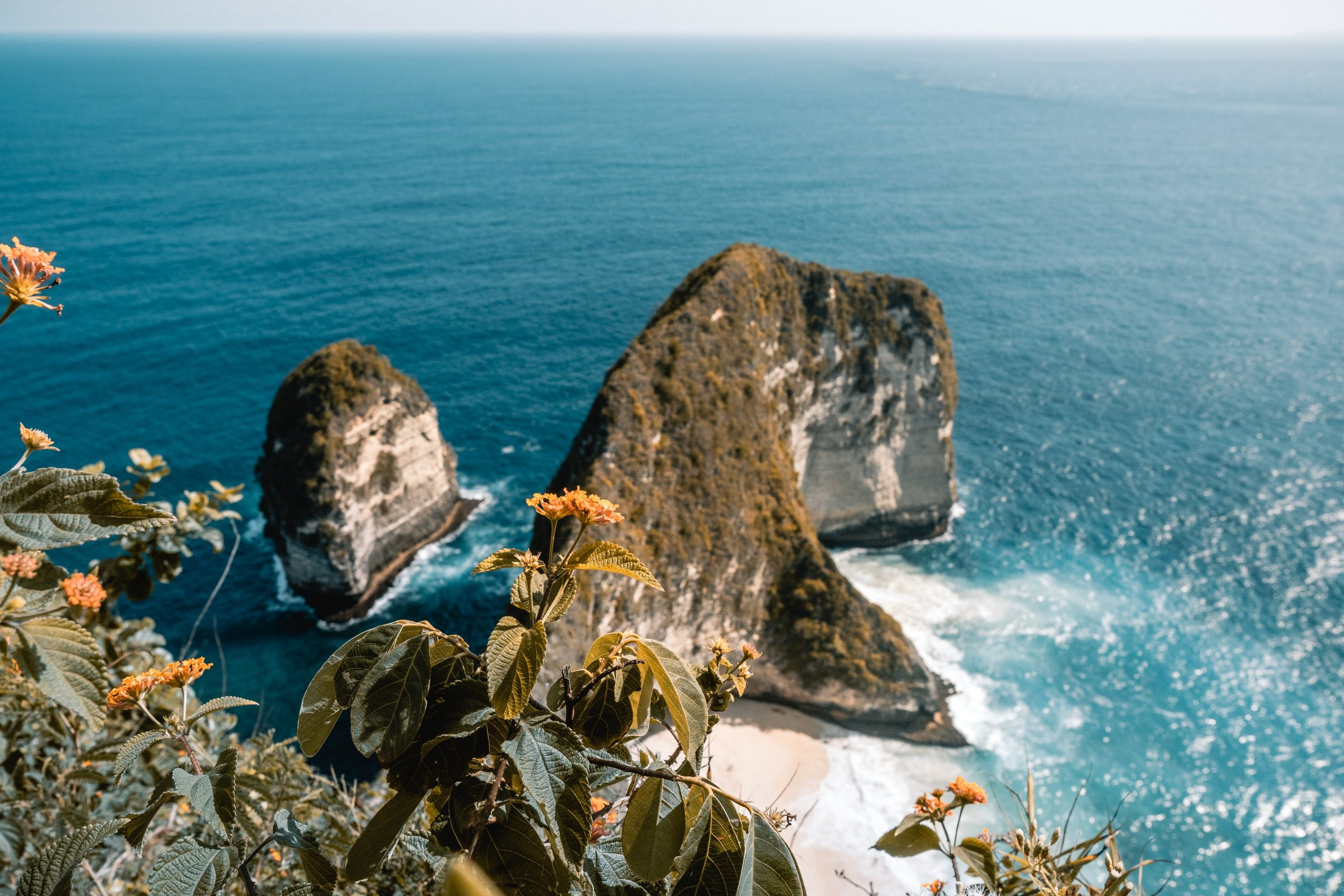 a view over kelingking beach on nusa penida, bali island, kelingking beach and crystal blue water, is nusa penida worth the hype?