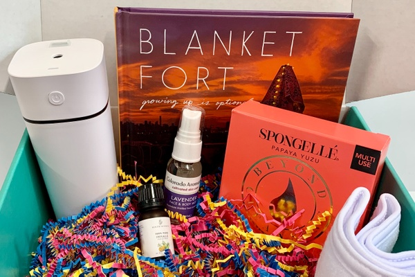 the happy glamper subscription box, travel box, box for glamping