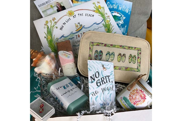the seacrate subscription box with beach essentials, travel subscription box