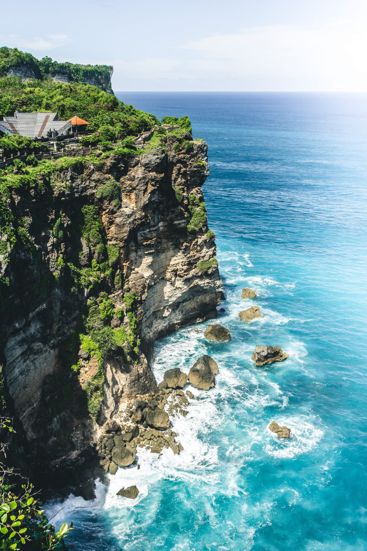 view over bali, cliff from bali, ocean views, cliff views