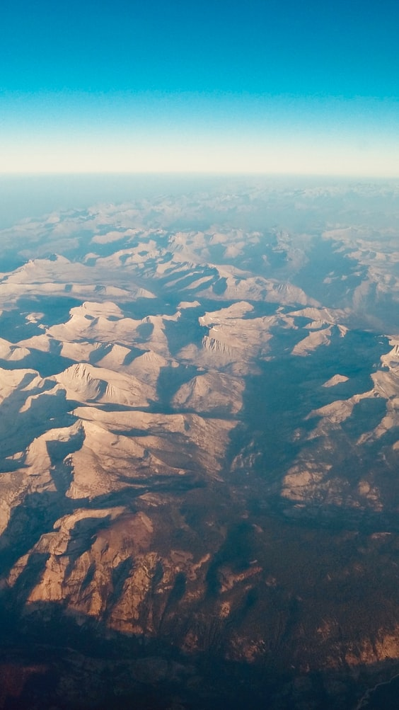 a view over the desert, mountains and sky, travel