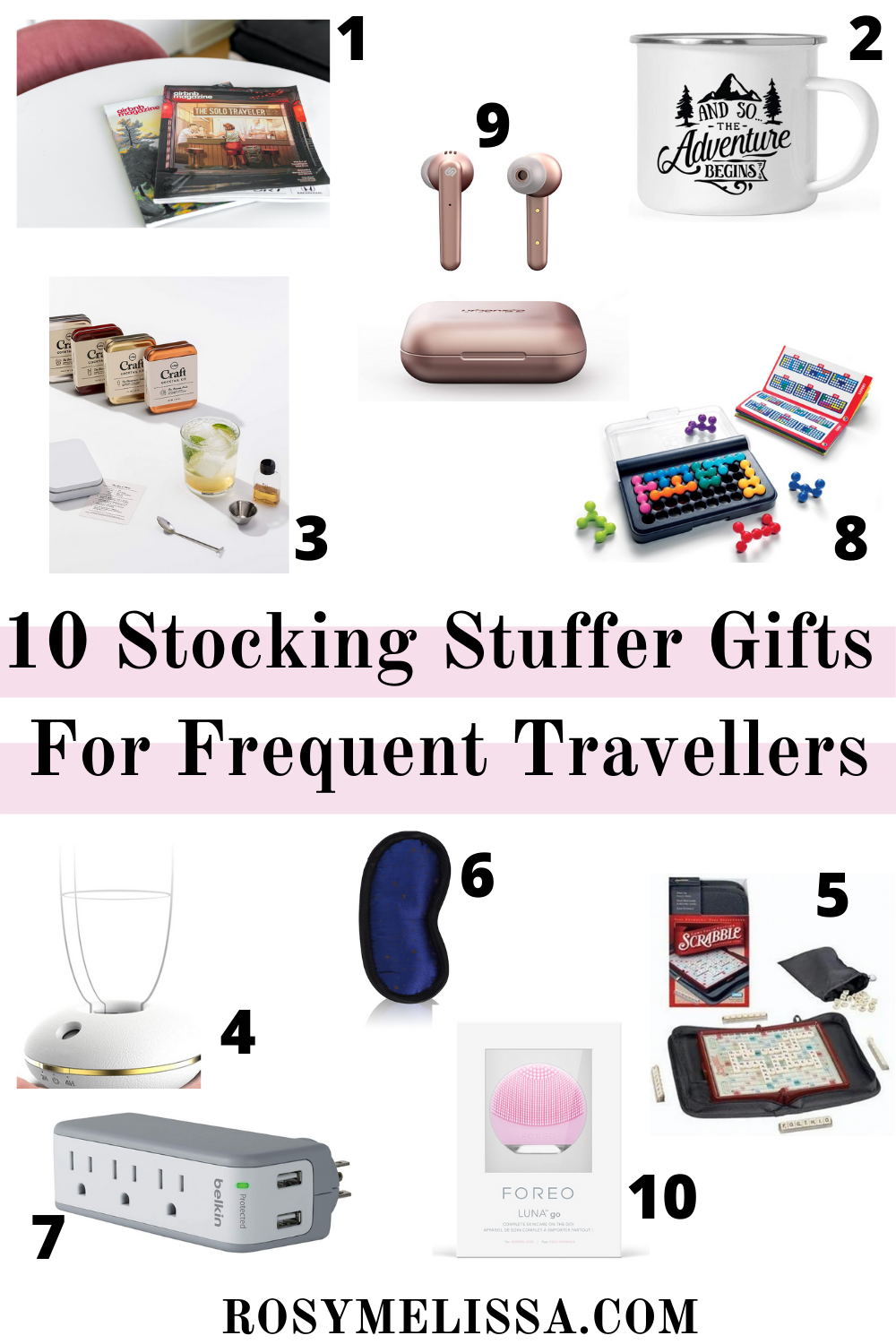 stocking stuffer gifts for frequent travellers, holiday gift guide, christmas gift guide for travellers