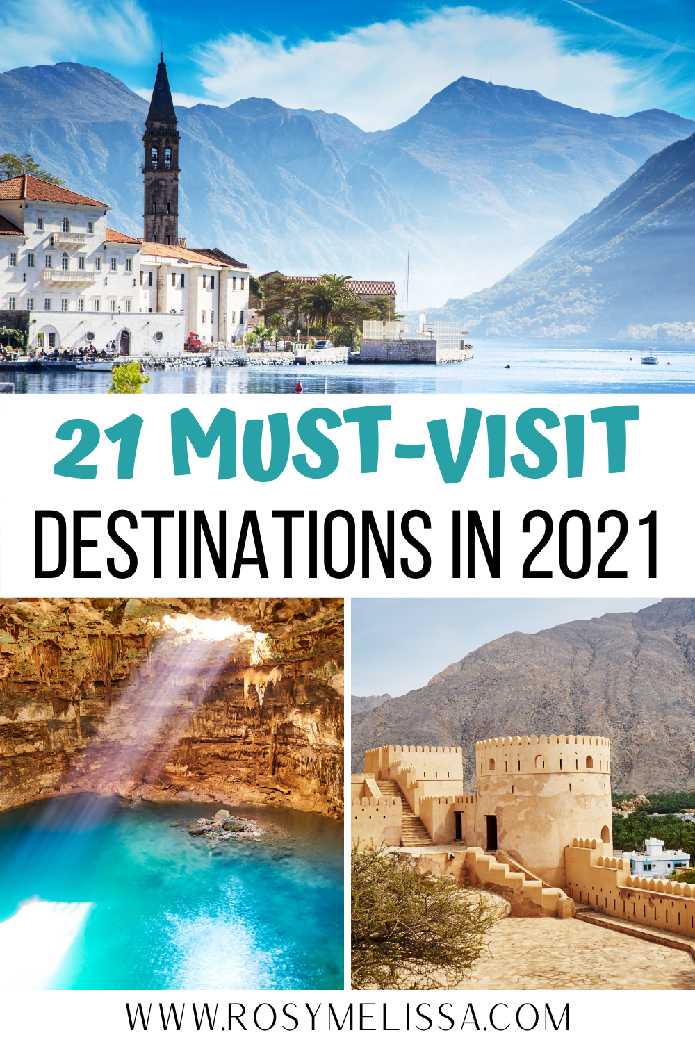 21 must-visit destinations in 2021, where to go in 2021, places to visit in 2021, 2021 travel list