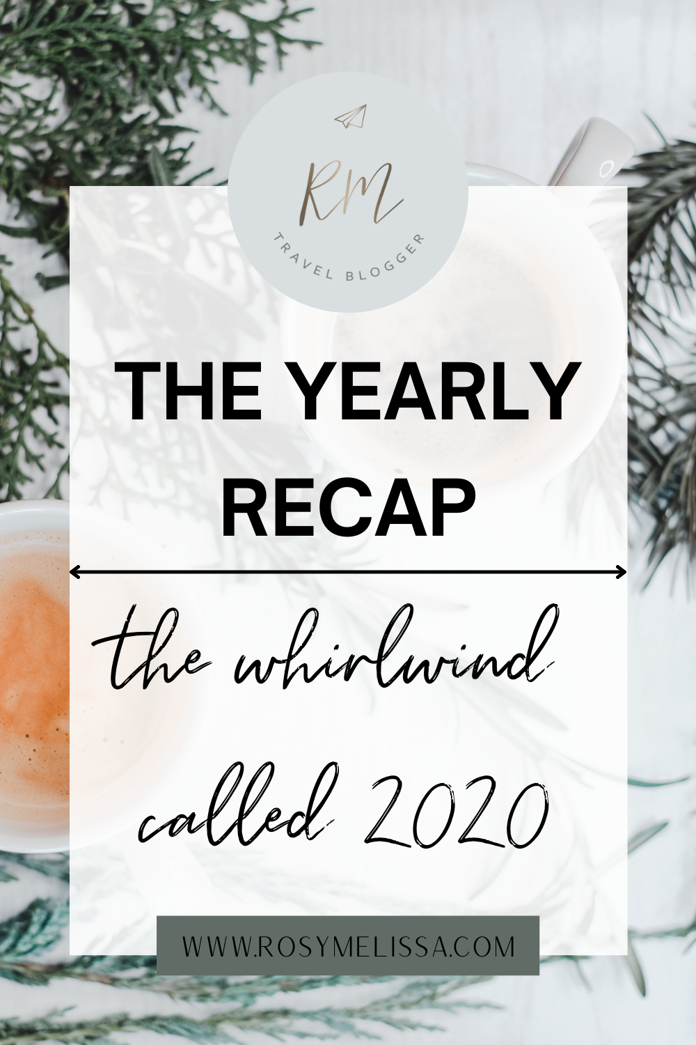 the yearly recap, 2020 recap, what I did in 2020, yearly update