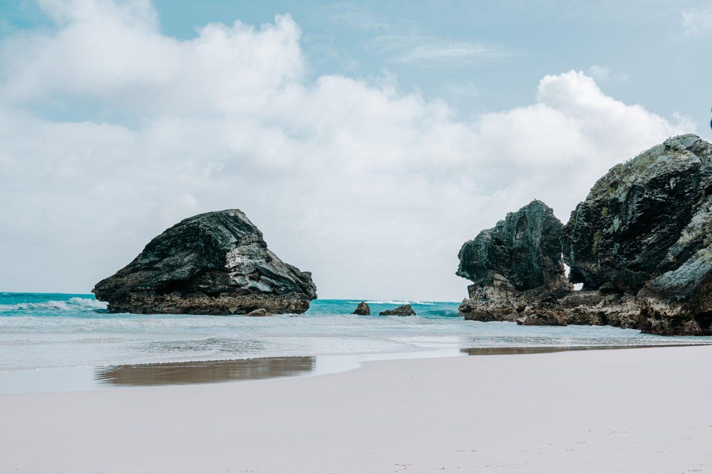 bermuda travel, beach in bermuda, crystal clear water, tropical island