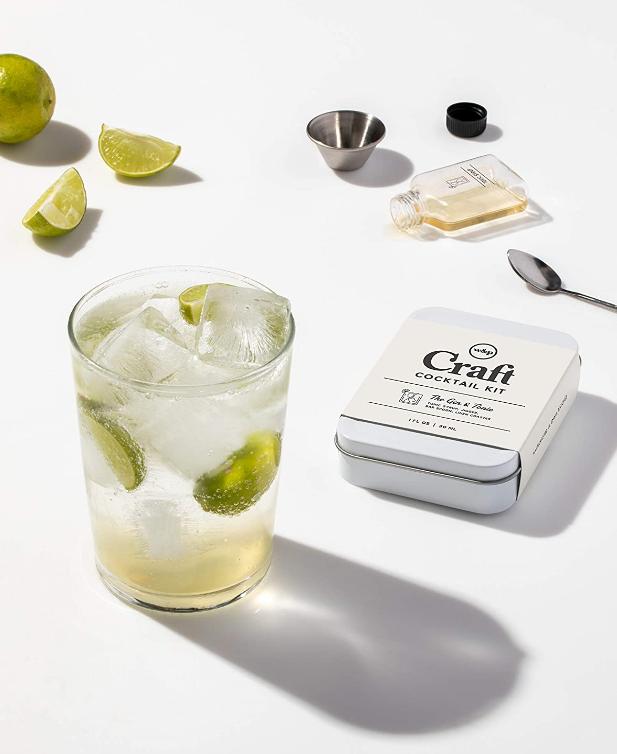 cocktail set, travel set to make cocktails, gin & tonic set