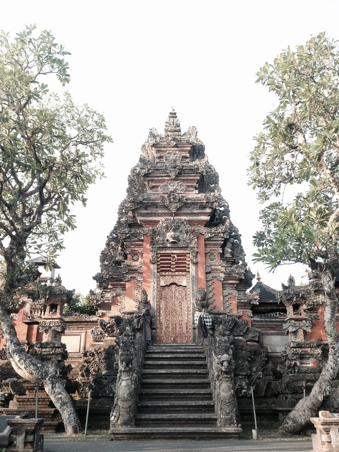 a temple in ubud in bali, indonesia travel, cultural sites