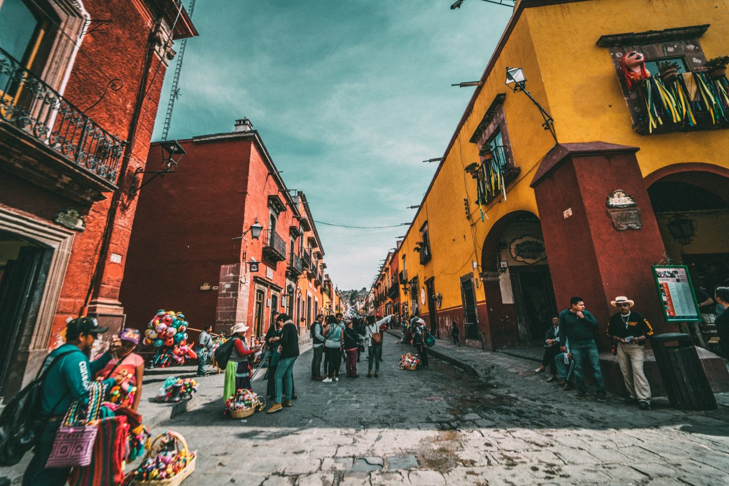 mexico travel, colorful houses in mexico, mexico photography