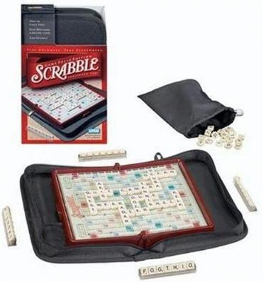 mini set of scrabble, travel scrabble, board games on the go