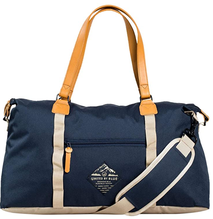 a travel bag, weekend bag, a sustainable bag from united by blue